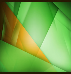 Abstract background green and orange background vector