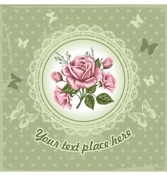 background with rose vector image vector image