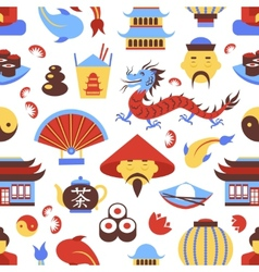 China seamless pattern vector image vector image