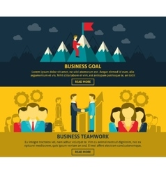 Leadership and business banners set vector image vector image