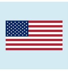 usa flag color vector image vector image