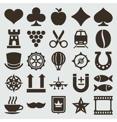 Vintage retro icons set vector image