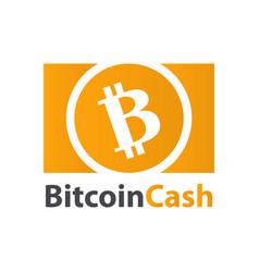 bitcoin cash crypto currency coin icon vector image
