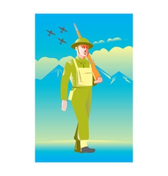 british world war soldier vector image vector image