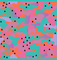 memphis camouflage seamless pattern in a orange vector image vector image