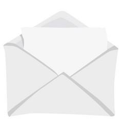open envelope flat style vector image