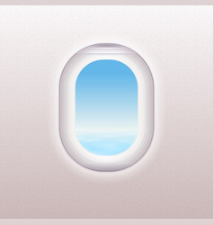 realistic window of the airplane vector image
