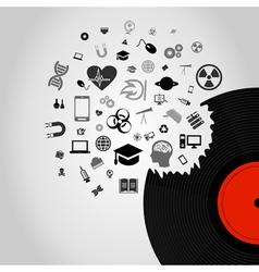 Science Vinyl vector image vector image