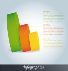 3d progress template vector image