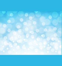 abstract white bokeh light on blue luxury vector image