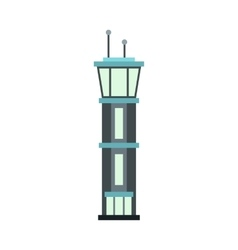 Airport tower icon flat style vector