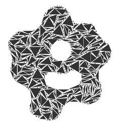Amoeba collage of triangles vector
