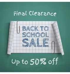 Back to School curved paper banner vector image vector image