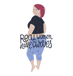 beautiful plus size woman vector image