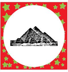 black 8-bit giza pyramids egypt vector image
