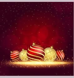 Christmas ball decoration with sparkles vector