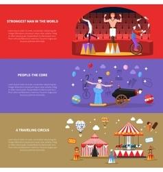 Circus Banners Set vector image