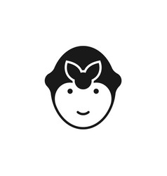cleaning lady room service icon isolated cleaning vector image