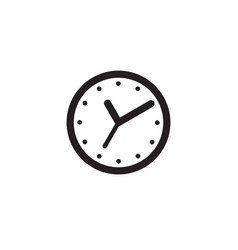 Clock flat web icon clock isolated on background vector