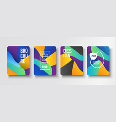 Colorful modern poster creative vector