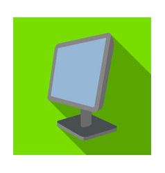 computer monitor icon in flat style isolated on vector image