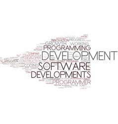 Developments word cloud concept vector
