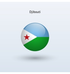 Djibouti round flag vector image
