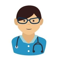 Doctor man cartoon design vector