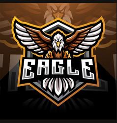 eagle esport mascot logo design vector image