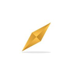Elegant golden diamond template vector