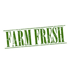 farm fresh green grunge vintage stamp isolated on vector image