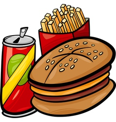 fast food cartoon clip art vector image