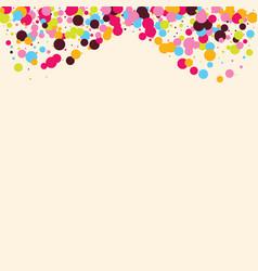 festive background with multicolored confetti vector image
