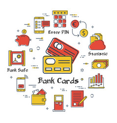 finance and banking concept - credit cards vector image