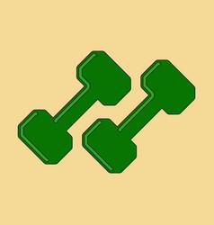 Flat icon on stylish background dumbbells vector
