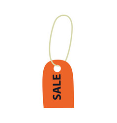 flat orange sale price tag icon vector image