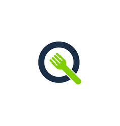 food letter q logo icon design vector image