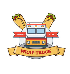 food truck logo design specialized in wraps vector image