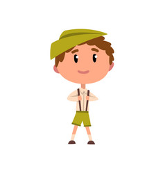 german boy in national clothes kid cartoon vector image