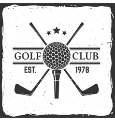 Golf club concept vector