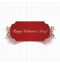 Happy Valentines Day greeting Card and Ribbon vector