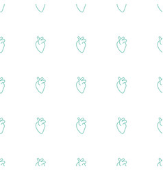 Heart organ icon pattern seamless white background vector