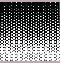 Hexagon halftone vector