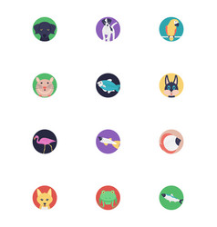 Icons pack of sea life and animals vector