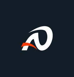 Initial logo ao swoosh abstract vector