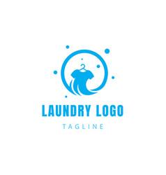 Laundry logo clean wash logo clothes logo symbol vector