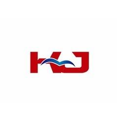Letter KJ Logo vector image