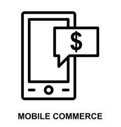 Mobile commerce vector