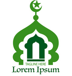 mosque icon or symbol vector image
