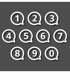 Numbers in Round Speech Bubbles vector image